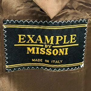 Missoni Suits & Blazers - Example x Missoni Mens 40R Sport Coat Gold Wool